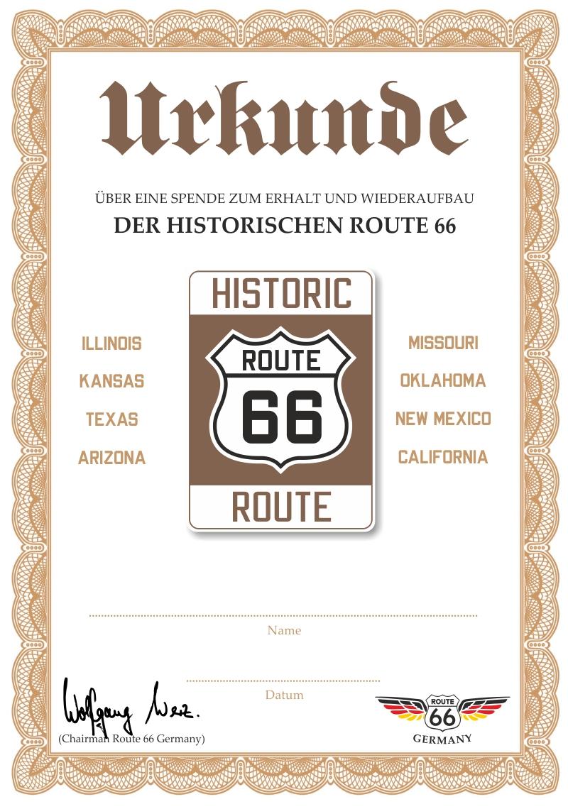 werde mitglied und unterst tze die route 66. Black Bedroom Furniture Sets. Home Design Ideas